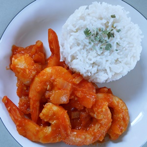 Shrimp Stir Fry in Hot Sauce--A Healthy Shrimp Dinner Recipe