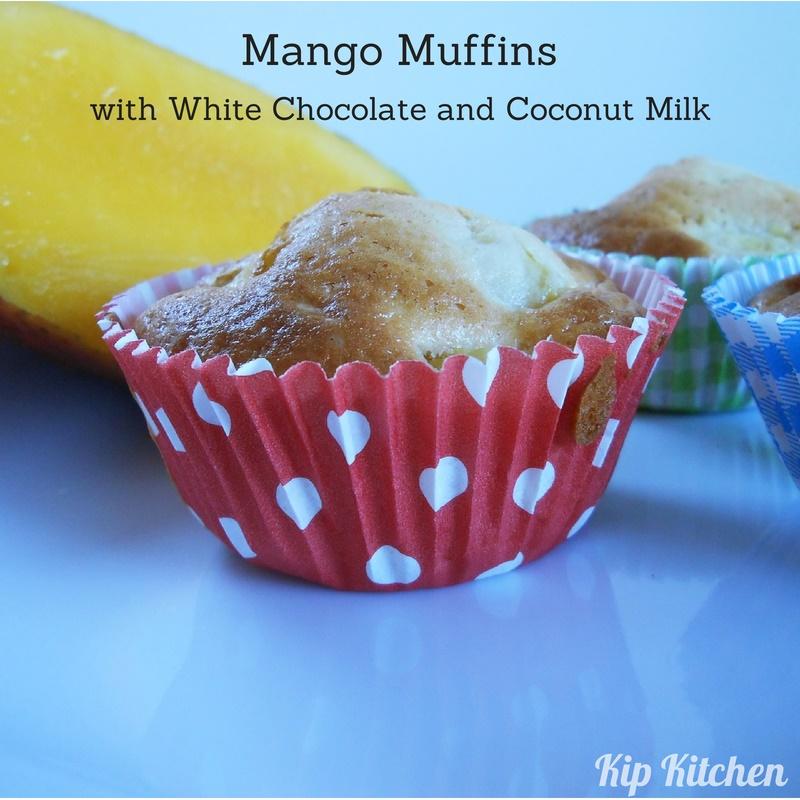 Easy Muffin Recipe + Yummy Fresh Mangoes & Coconut Milk