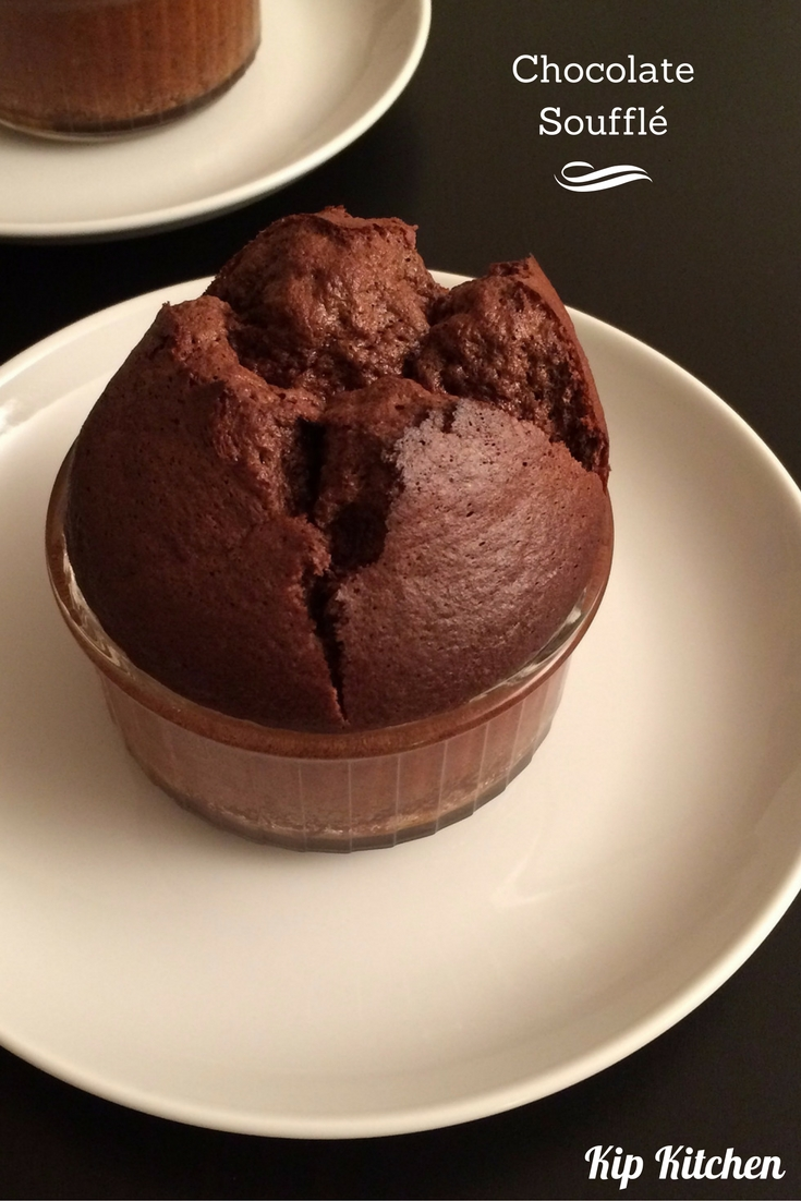 Homemade Chocolate Soufflé | kipkitchen.com