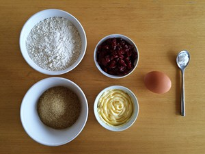 Cranberry Cookies Ingredients | kipkitchen.com | #baking #cookies #recipe