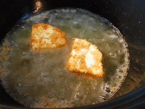 Deep Fried Camembert Cheese--Deep Frying | kipkitchen.com | #camembert #cheese #delicious #recipe