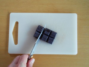 Madeleine Cookie Recipe Cut Chocolate | kipkitchen.com #recipe #food #chocolate #paris