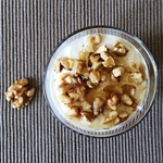 A Healthy Breakfast Recipe: Yogurt with Honey & Walnuts
