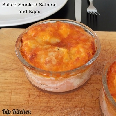 Baked Smoked Salmon and Eggs | kipkitchen.com