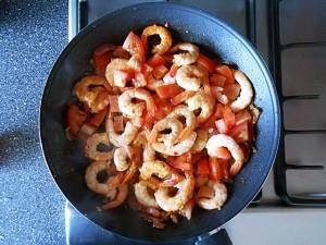 Shrimp Stir Fry in Hot Sauce|kipkitchen.com #shrimp #stirfry #hotsauce #recipe #dinner