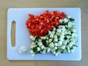 Vegetarian Cake-Cut the vegetables kipkitchen.com #vegetarian #cake #healthy